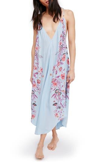 Free People Ashbury Floral Print Slipdress, Blue