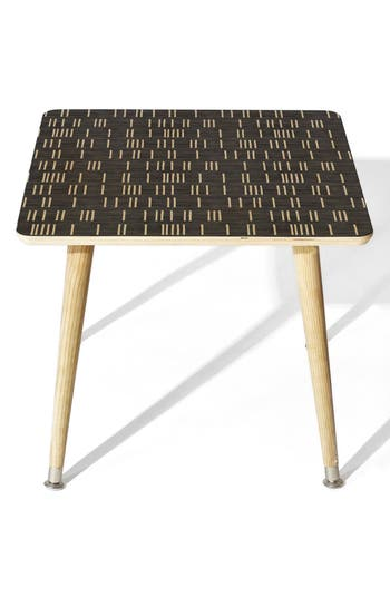 Deny Designs Mudcloth Side Table, Size One Size - Blue