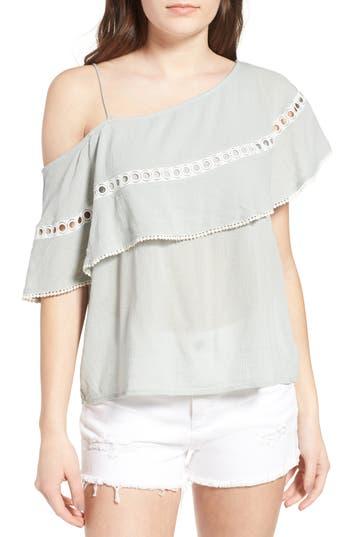 Women's Sun & Shadow One-Shoulder Ruffle Top