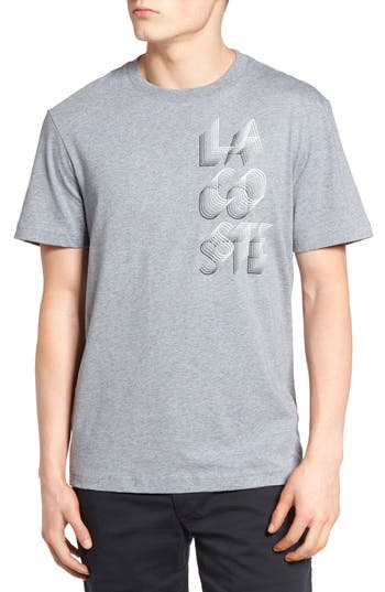 Lacoste 3D Print Logo Graphic T-Shirt, (m) - Grey