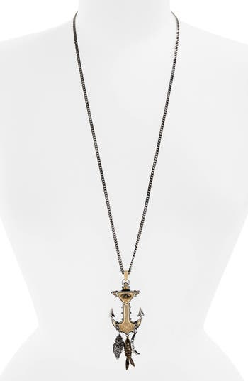 Women's Alexander Mcqueen Anchor Pendant Necklace