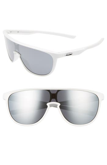 Oakley Trillbe 140Mm Shield Sunglasses - Matte White/ Black Iridium