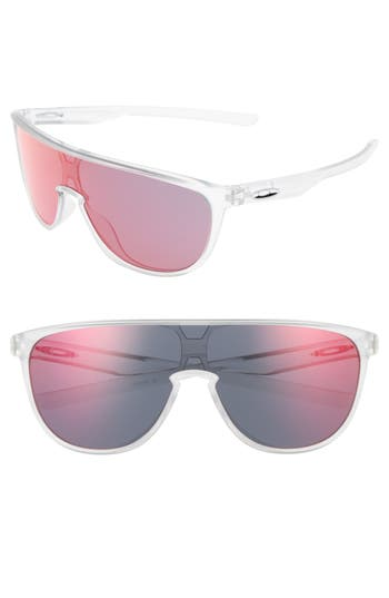 Oakley Trillbe 140Mm Shield Sunglasses - Matte Clear/ Torch Iridium
