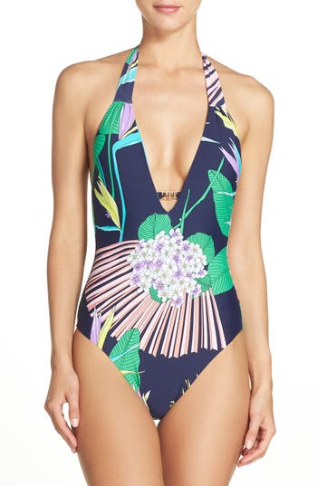 Trina Turk Midnight One-Piece Swimsuit, Blue