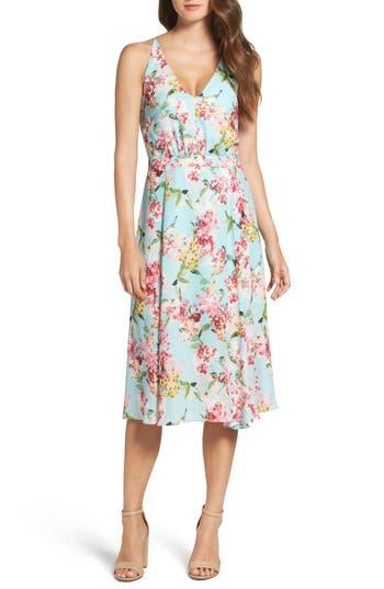 Adelyn Rae Print Midi Dress