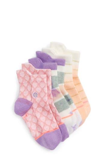 Girls Stance Pop Assorted 3Pack Socks