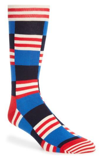 Men's Happy Socks Check & Stripe Socks