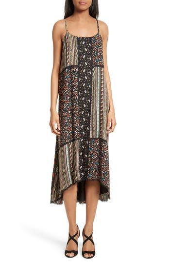 Women's Alice + Olivia Merle Mixed Print Midi Dress