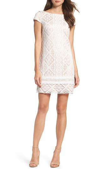 Vince Camuto Lace Shift Dress, Ivory