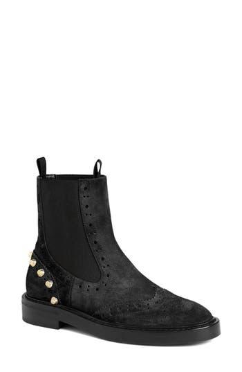 Balenciaga Studded Chelsea Boot, Black