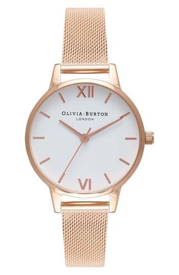 Olivia Burton Mesh Strap Watch, 30mm
