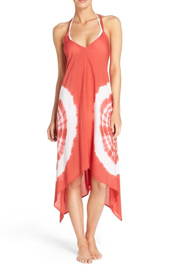 Women's Elan Cover-Up Dress, Size Large - Red