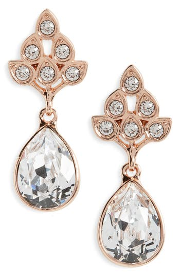 Women's Nina Art Nouveau Double Drop Crystal Earrings