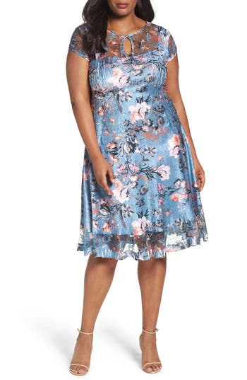 Plus Size Women's Komarov Provençal Garden A-Line Dress