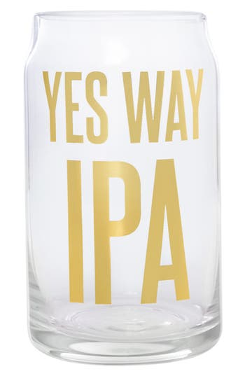 Yes Way Ipa Beer Can Glass