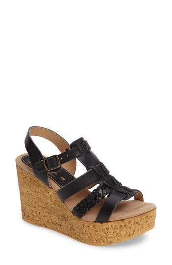 Women's Sbicca Pluto Wedge Sandal, Size 7 M - Black