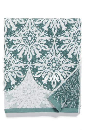 Nordstrom At Home Fan Ombre Jacquard Bath Towel, Size One Size - Blue/green