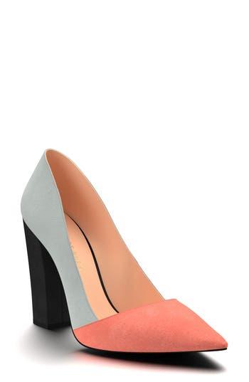 Shoes Of Prey Block Heel Pump, Grey