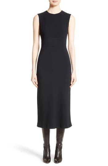 Max Mara Pesche Midi Dress, Black