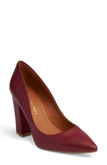 Shoes Of Prey Pointy Toe Pump, Red
