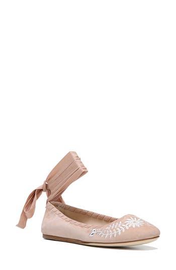 Via Spiga Baylie Tie Ballet Flat, Pink