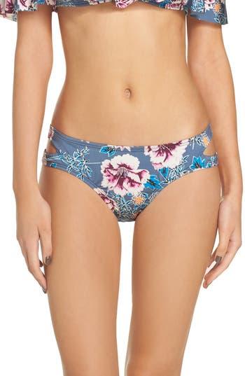 The Bikini Lab Bloom Cutout Hipster Bikini Bottoms, Grey