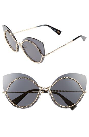 Women's Marc Jacobs 61Mm Rimless Cat Eye Sunglasses - Gold