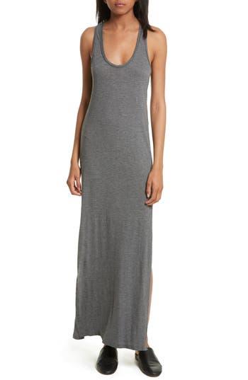 Theory Sameetha Plume Jersey Maxi Dress, Grey