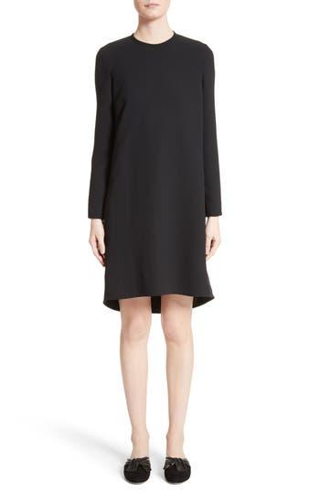 Victoria, Victoria Beckham Gathered Open Back Shift Dress, Black
