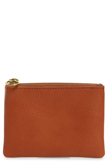 Madewell The Leather Pouch Wallet - Brown at NORDSTROM.com