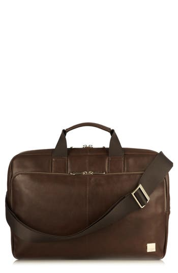 Knomo London Brompton Newberry Leather Briefcase - Brown