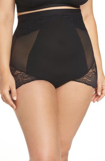 Plus Size Women's Spanx Spotlight On Lace High Waist Briefs