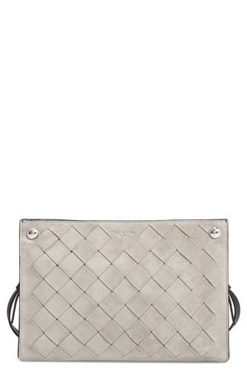 Rag & Bone Compass Suede Crossbody Bag - Metallic
