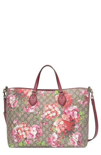 GUCCI Gg Blooms Top-Handle Tote Bag, Rose/Multi in Rosa