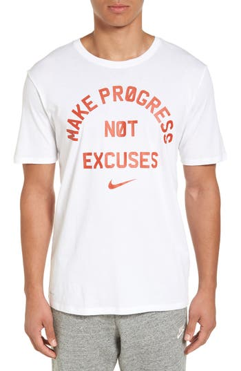 Nike Dry No Excuses Training T-Shirt, White