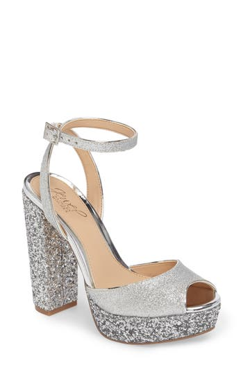 Jewel Badgley Mischka Luke Platform Sandal, Metallic