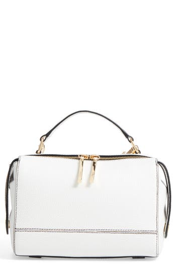 Milly Astor Leather Top Handle Satchel - White