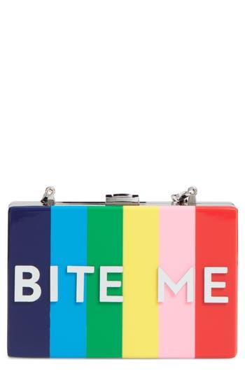 Milly Bite Me Box Clutch - Metallic