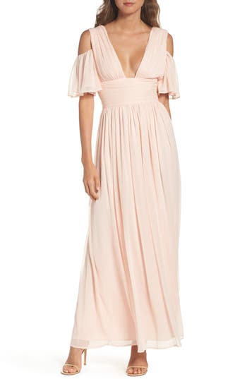 Women's French Connection Constance Cold Shoulder Maxi Dress