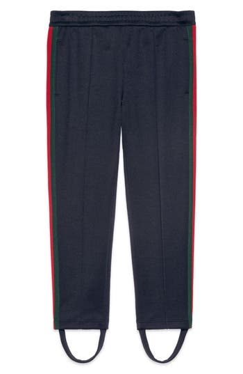 Girl's Gucci Stripe Jersey Stirrup Pants