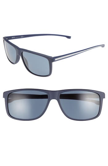 Men's Boss 60Mm Sunglasses - Blue/ Blue