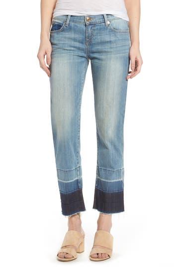 True Religion Brand Jeans Crop Straight Leg Jeans, Blue