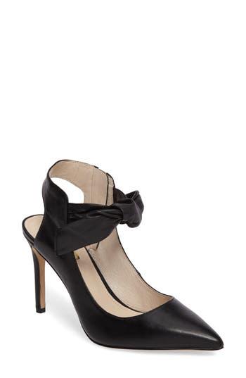 Louise Et Cie Jeph Ankle Bow Pointy Toe Pump- Black
