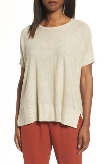 Eileen Fisher Tencel & Merino Wool Top, Beige