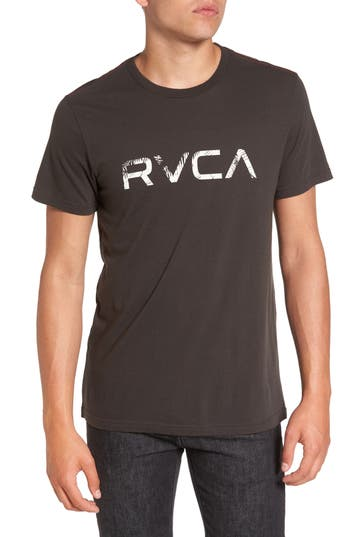 Rvca Big Palm Graphic T-Shirt, Black