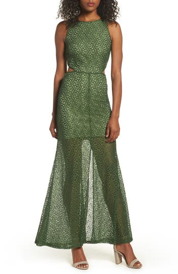 Ali & Jay Crystal Garden Gown, Green