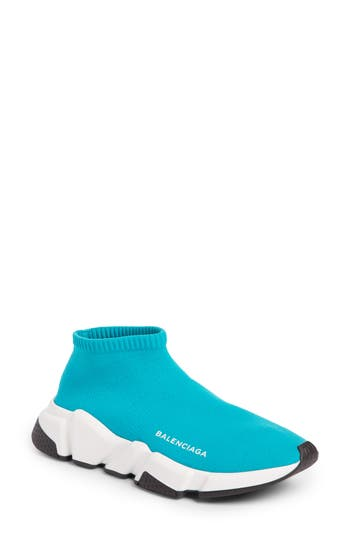 Balenciaga Low Speed Sneaker, Blue/green