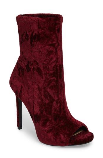 Jessica Simpson Rainer Peep Toe Bootie, Burgundy