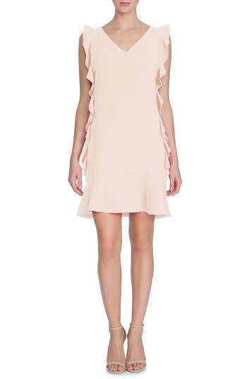 Women's Cece Harper Ruffle Woven Shift Dress, Size 4 - Pink