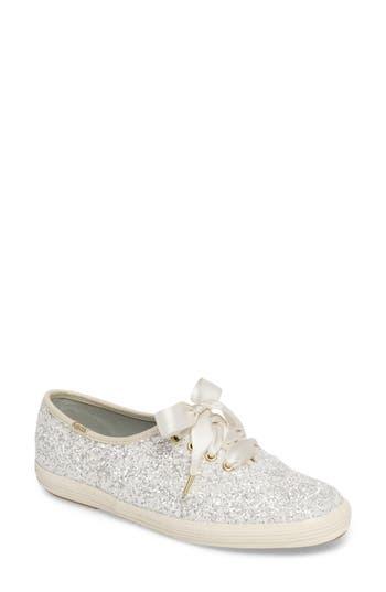 Keds For Kate Spade New York Glitter Sneaker, Beige